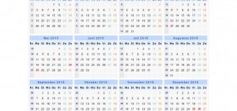 Kalendarz dni wolnych od pracy i szkoły w Holandii na 2015 rok