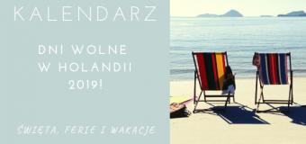 Dni wolne w Holandii 2019 od pracy i szkoły – święta, ferie, wakacje