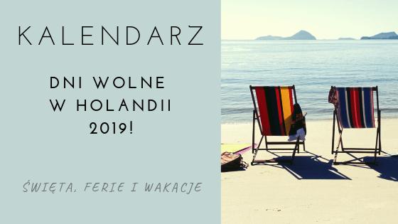 Kalendarz na 2019 - Holandia